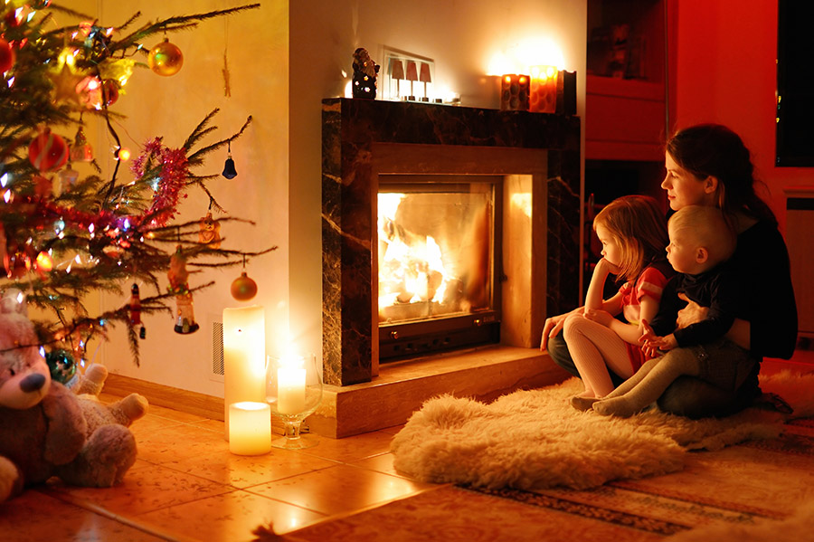Blue Sky Chimney Sweeps Provides Fireplace Safety Tips When Decorating for the Holidays