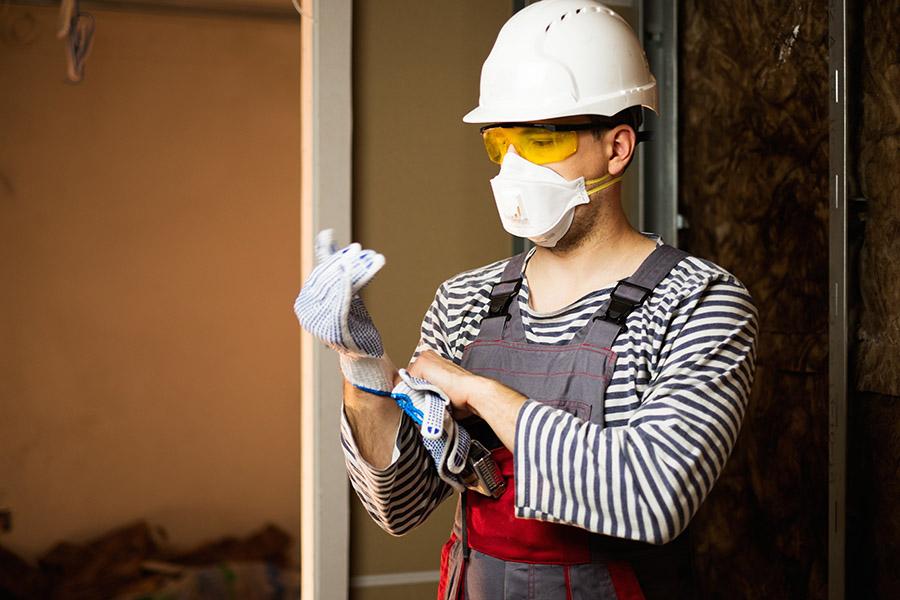 Construction Company Following Safety Protocols
